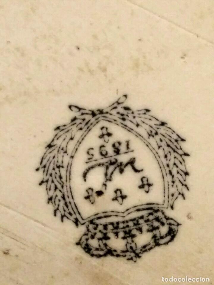 Antigüedades: IMPRESIONANTE CENTRO DE MESA - METAL PORCELANA - ESTILO ART NOUVEAU - SELLO EN BASE.. - Foto 16 - 136758778