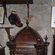 Antigüedades: ESPECTACULAR ORATORIO /CAPILLA/ HORNACINA S XVII MADERA POLICROMADA 1M 60CM. Lote 136779366