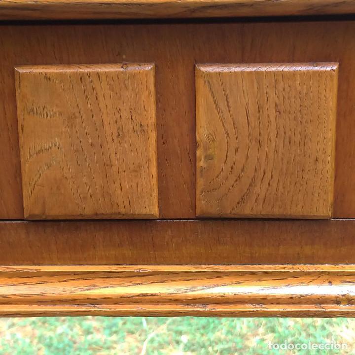 Antigüedades: Consola de roble artesana auténtica años 60 - Foto 6 - 136817074