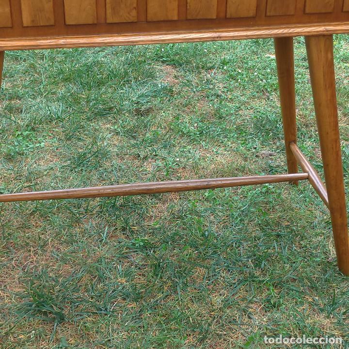 Antigüedades: Consola de roble artesana auténtica años 60 - Foto 7 - 136817074