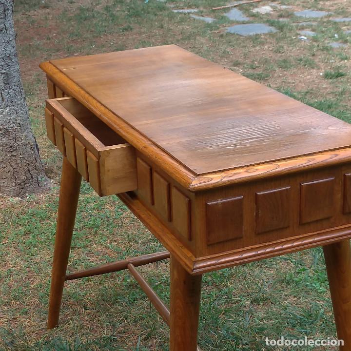 Antigüedades: Consola de roble artesana auténtica años 60 - Foto 8 - 136817074
