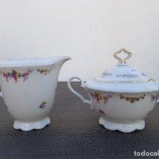 Antigüedades: AZUCARERO Y LECHERA PORCELANA SELLADA BAVARIA. Lote 136817510