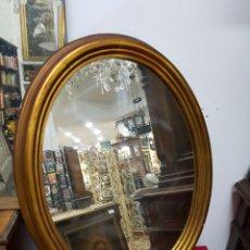 Antigüedades: ESPEJO OVALADO VINTAGE 70X55. Lote 136845872