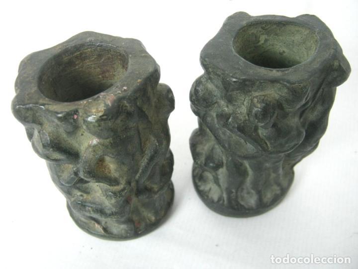 Antigüedades: Pareja de jarrones noucentistas en terracota - modernismo catalan 1900/20 Olot - Foto 2 - 136851382