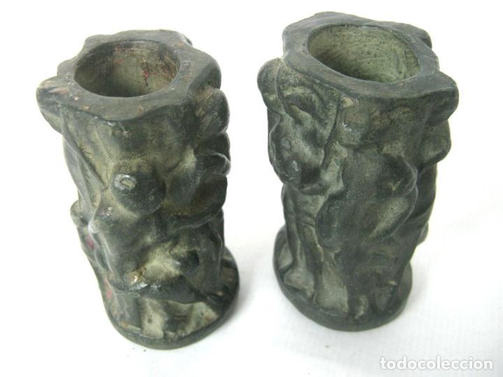 Antigüedades: Pareja de jarrones noucentistas en terracota - modernismo catalan 1900/20 Olot - Foto 3 - 136851382