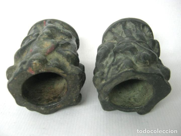 Antigüedades: Pareja de jarrones noucentistas en terracota - modernismo catalan 1900/20 Olot - Foto 6 - 136851382