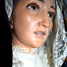 Antigüedades: BELLA Y MUY EXPRESIVA IMAGEN DE VIRGEN APROX 130 CM ALTURA. . Lote 136870950