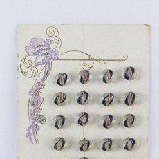 Antigüedades: PRECIOSOS BOTONES ART NOUVEAU MODERNISTAS EN CRISTAL NUNCA USADOS. Lote 136876798