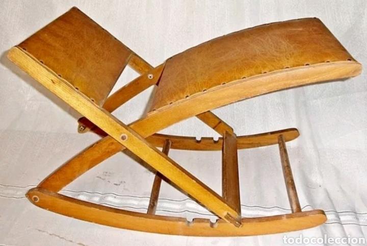 Usado, Silla hamaca abatible y plegable vintage rara segunda mano