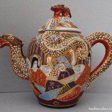 Antigüedades: TETERA EN PORCELANA SATSUMA. Lote 137129850
