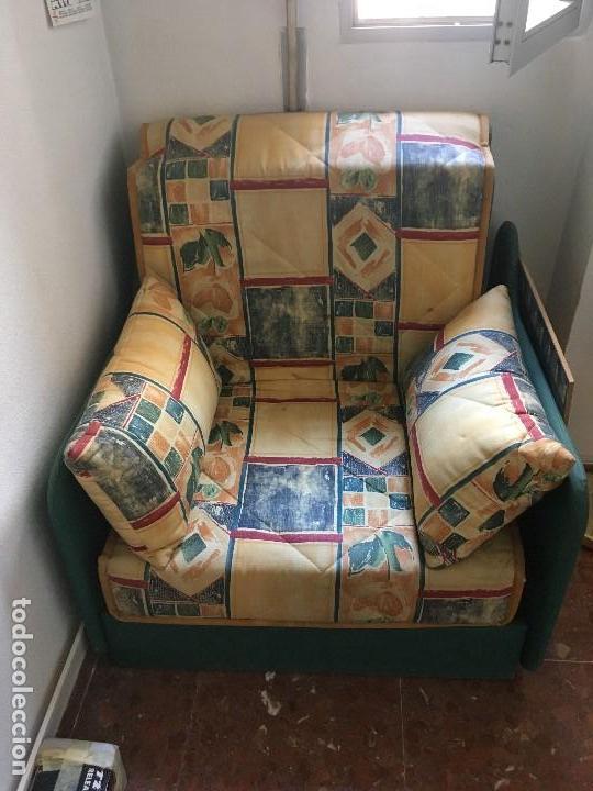 SILLON ,CAMA PLEGABLE (Antigüedades - Muebles Antiguos - Sofás Antiguos)