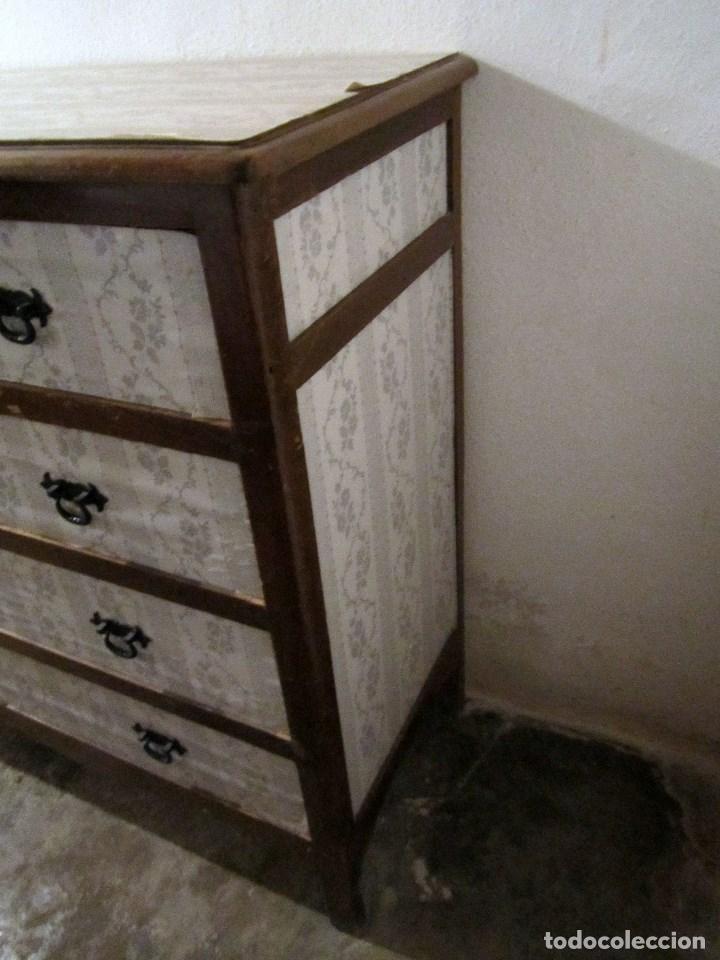 Antigüedades: GRAN CÓMODA MUY ANTIGUA - MADERA DE PINO MACIZA - Foto 3 - 137149642