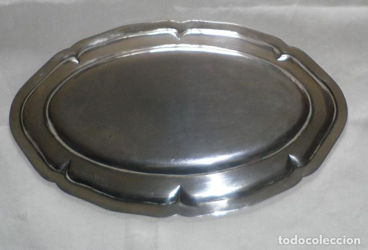 Antigüedades: bandeja de plata con contraste - Foto 2 - 137159358