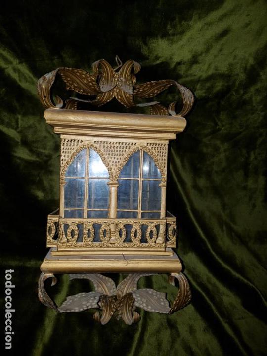 FAROL DE LATA SEVILLANO DEL SIGLO XIX (Antigüedades - Iluminación - Faroles Antiguos)