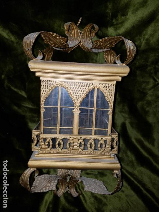 Antigüedades: FAROL DE LATA SEVILLANO DEL SIGLO XIX - Foto 3 - 137160502