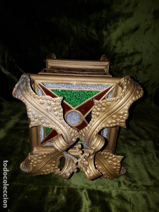 Antigüedades: FAROL DE LATA SEVILLANO DEL SIGLO XIX - Foto 4 - 137160502