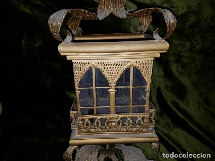 Antigüedades: FAROL DE LATA SEVILLANO DEL SIGLO XIX - Foto 5 - 137160502