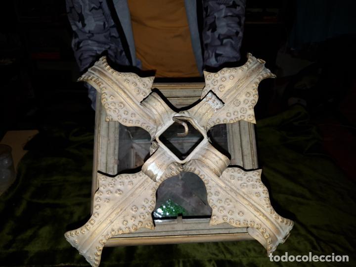 Antigüedades: FAROL DE LATA SEVILLANO DEL SIGLO XIX - Foto 7 - 137160502