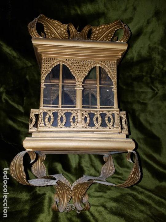 Antigüedades: FAROL DE LATA SEVILLANO DEL SIGLO XIX - Foto 9 - 137160502