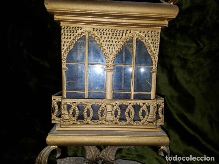 Antigüedades: FAROL DE LATA SEVILLANO DEL SIGLO XIX - Foto 10 - 137160502