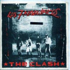 Discos de vinilo: THE CLASH / LOS SIETE MAGNIFICOS / STOP THE WORLD (SINGLE PROMO LABEL BLANCO 1980). Lote 137184918