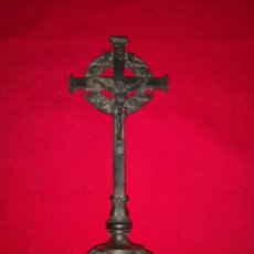 Antigüedades: CRUCIFIJO DE SOBRE MESA. Lote 137198261