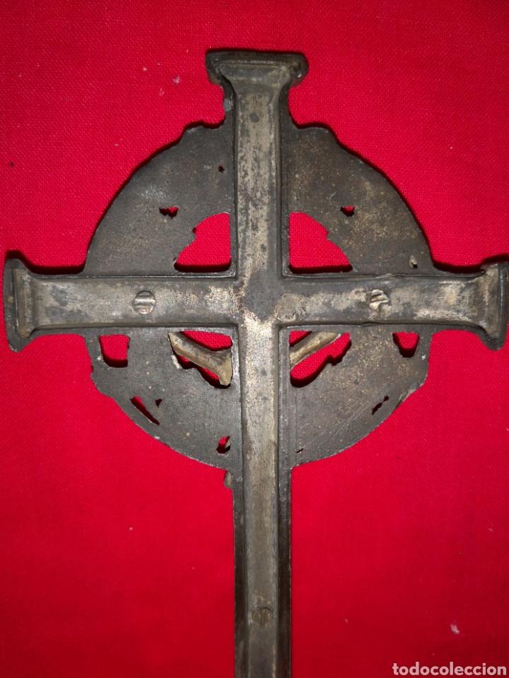 Antigüedades: CRUCIFIJO DE SOBRE MESA - Foto 4 - 137198261