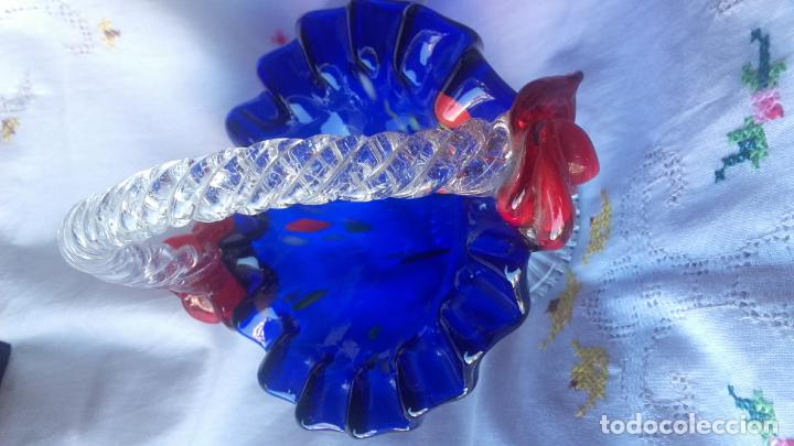 Antigüedades: Cesto cristal Murano - Foto 3 - 137201002