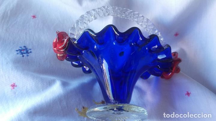Antigüedades: Cesto cristal Murano - Foto 4 - 137201002