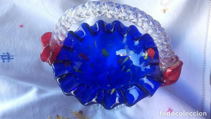 Antigüedades: Cesto cristal Murano - Foto 6 - 137201002