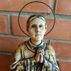 Antigüedades: MUY ANTIGUA IMAGEN DE SANTA GEMA CON OJOS DE CRISTAL OLOT. Lote 137206945