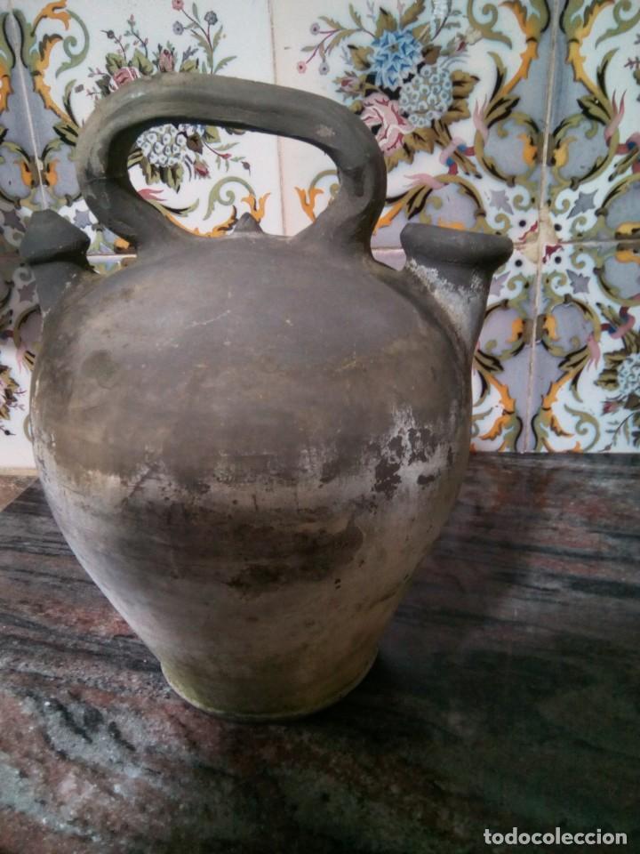 *ANTIGUO CÁNTARO O BOTIJO J..CORNELLÁ. - LA BISBAL 28 CM. (RF:B/A*) (Antigüedades - Porcelanas y Cerámicas - La Bisbal)