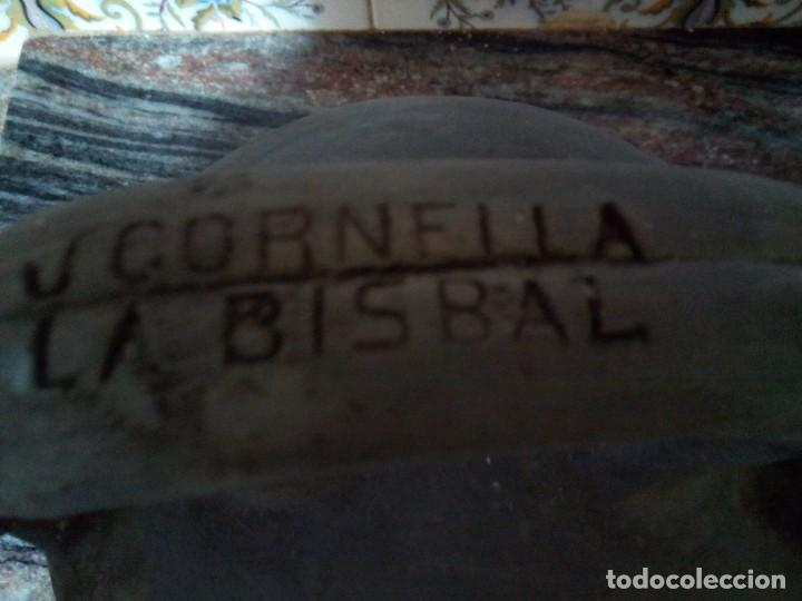 Antigüedades: *ANTIGUO CÁNTARO o BOTIJO J..CORNELLÁ. - LA BISBAL 28 CM. (RF:B/a*) - Foto 2 - 137211090
