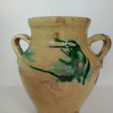 Antigüedades: ORZA O PUCHERO DE CERÁMICA POPULAR DE ÚBEDA (JAÉN). Lote 137214622