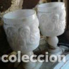 Antigüedades: LÁMPARAS DE ALABASTRO TALLADAS. Lote 137215530