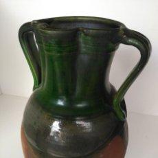 Antigüedades: JARRO DE GRAN TAMAÑO DE CERÁMICA VIDRIADA DE ÚBEDA (JAÉN). Lote 137218474