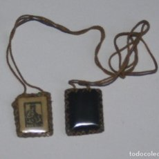 Antigüedades: ANTIGUO ESCAPULARIO DE LA VIRGEN DEL CARMEN. Lote 137226882