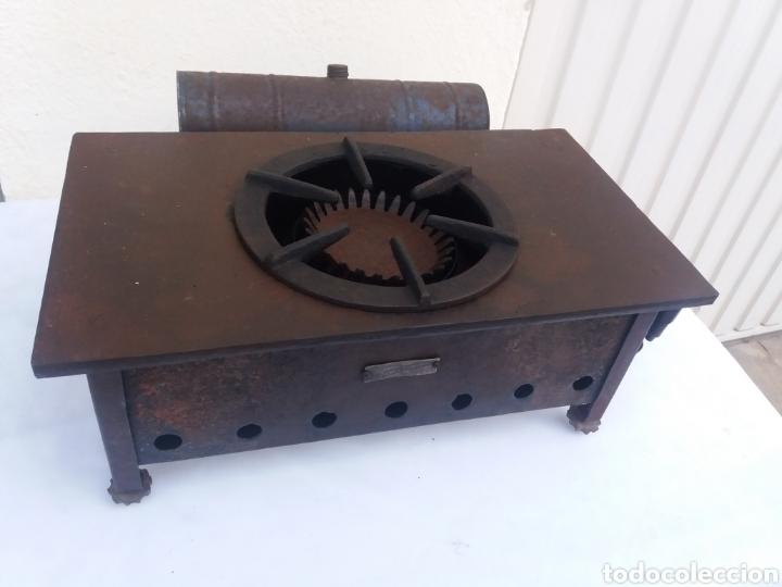 Antiquitäten: Antigua cocina completa hornillo de petroleo de hierro fundido igual decoracion rustica - Foto 3 - 137187429