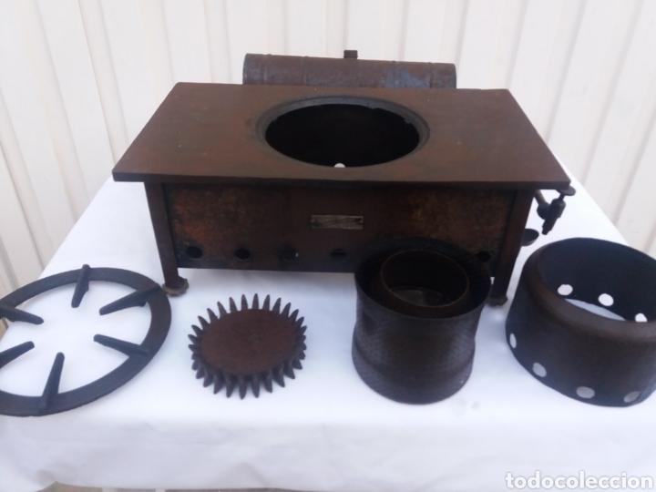 Antiquitäten: Antigua cocina completa hornillo de petroleo de hierro fundido igual decoracion rustica - Foto 2 - 137187429