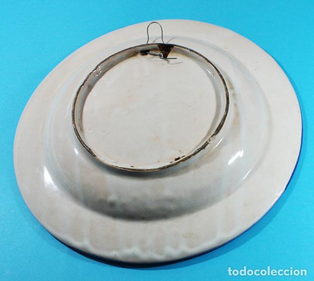 Antigüedades: GRAN PLATO CERAMICA FIRMADO LARIO 33 CM DIAMETRO - Foto 4 - 137234650
