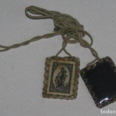 Antigüedades: ANTIGUO ESCAPULARIO VIRGEN DEL CARMEN. Lote 137235290