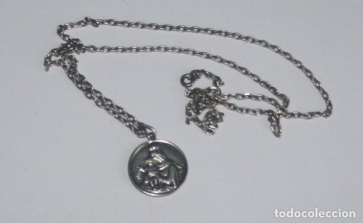 d82ac21a4d3 Medalla escapulario sagrado corazÓn de jesÚs virgen del carmen de plata con  cadena antigüedades jpg 720x443