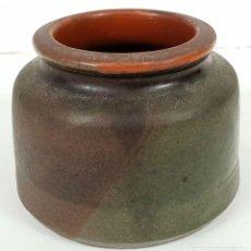 Antigüedades: TARRO DE CERÁMICA COCIDA CATALANA. VIDRIADA. SIGLO XX. . Lote 137281746