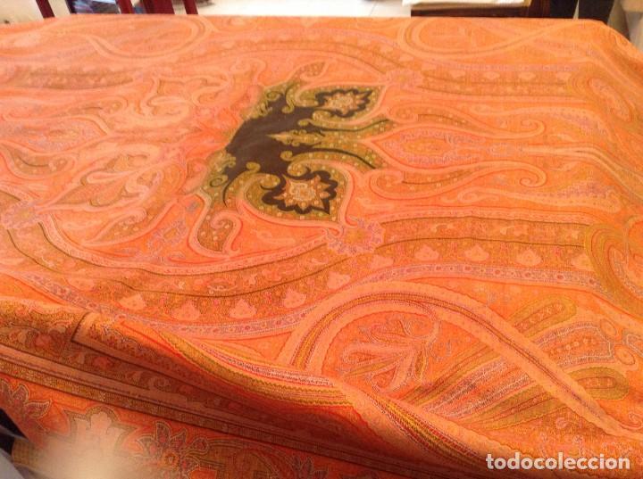 ANTIGUO MANTON DE 8 PUNTAS (Antigüedades - Moda - Mantones Antiguos)