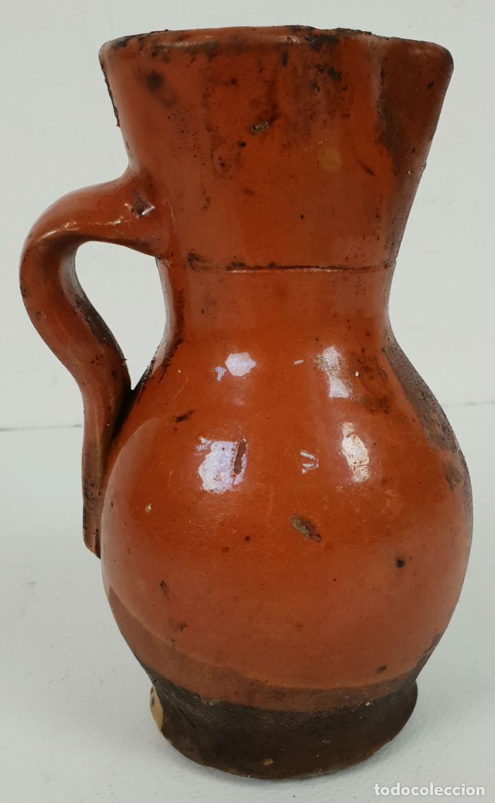 JARRA PARA VINO. CERÁMICA CATALANA. COCIDA Y VIDRIADA. SIGLO XIX. (Antigüedades - Porcelanas y Cerámicas - Catalana)