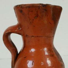Antigüedades: JARRA PARA VINO. CERÁMICA CATALANA. COCIDA Y VIDRIADA. SIGLO XIX. . Lote 137288198