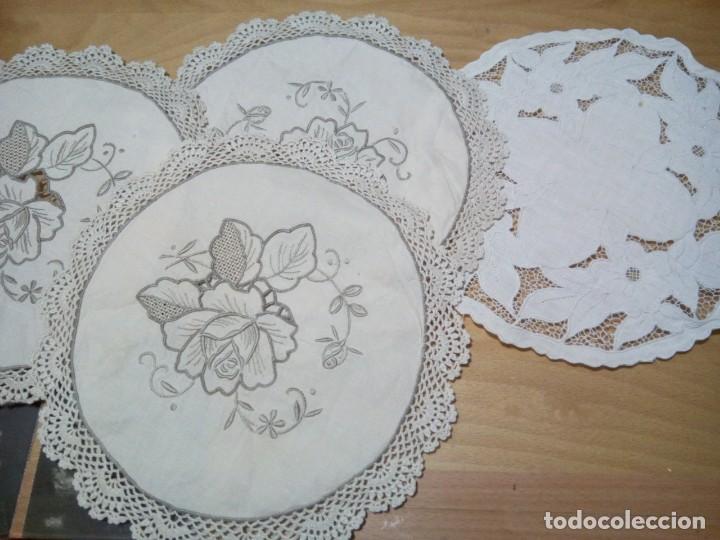 *ANTIGUOS TAPETES PARA PAN. (RF: 214/B) (Antigüedades - Hogar y Decoración - Manteles Antiguos)