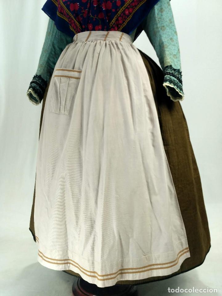 DELANTAL DE ALGODÓN ANTIGUO (Antigüedades - Moda y Complementos - Mujer)