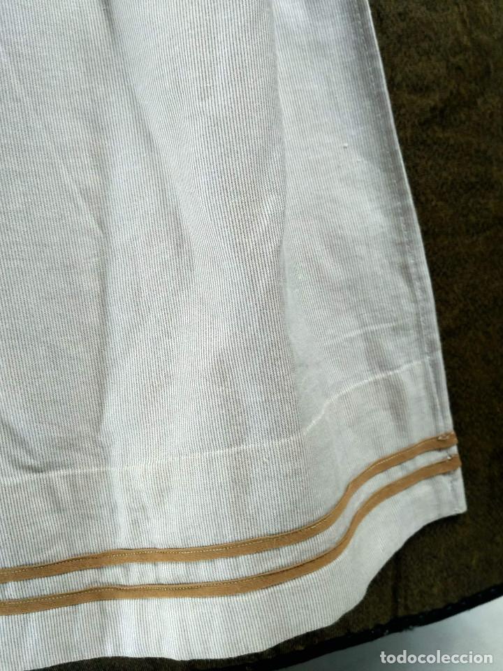 Antigüedades: Delantal de algodón antiguo - Foto 2 - 137298918