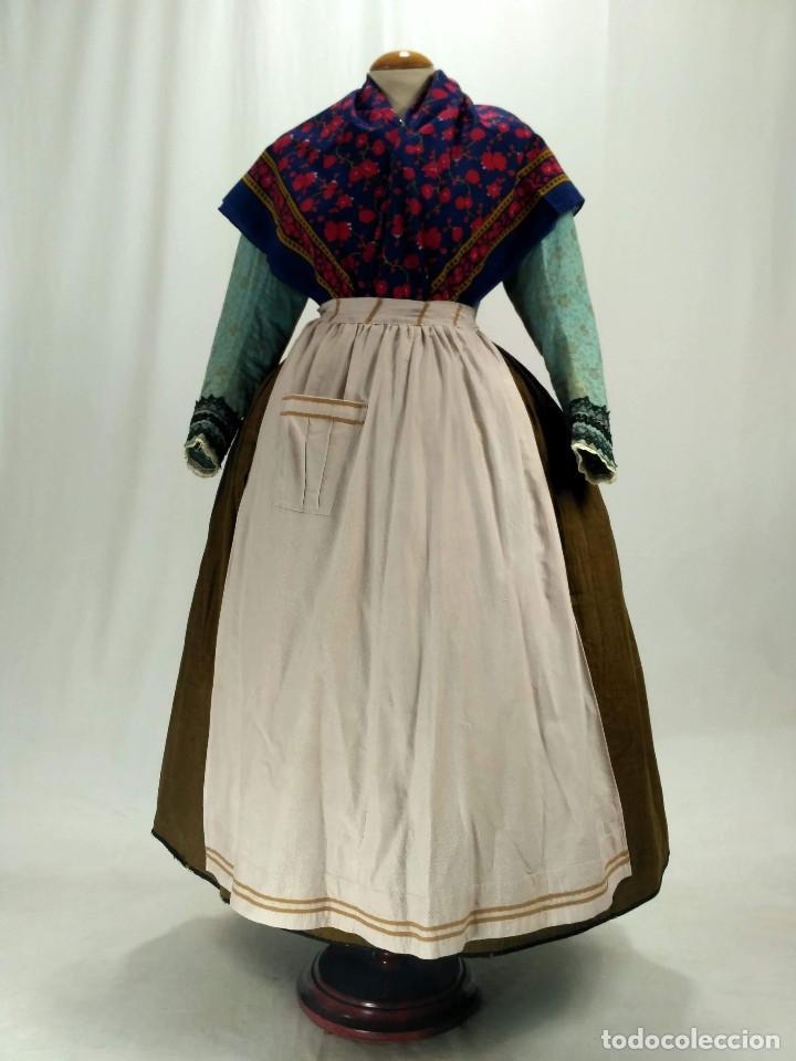 Antigüedades: Delantal de algodón antiguo - Foto 4 - 137298918